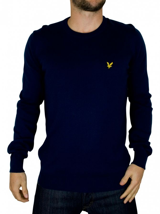 Lyle & Scott New Navy Crew Neck Knit