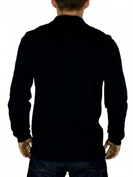 Lyle & Scott True Black Longsleeved Polo Shirt