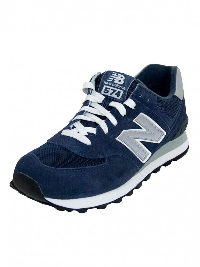 New Balance Navy/Grey 574 Trainers
