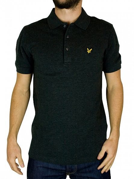 Lyle & Scott Charcoal Polo Shirt