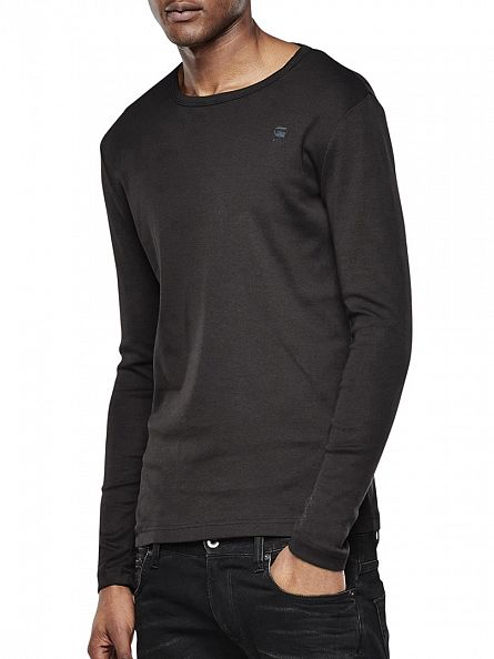 G-Star Black Long Sleeved T-Shirt