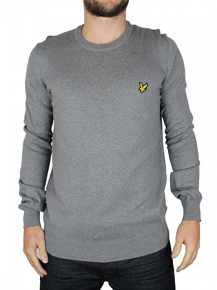 Lyle & Scott Mid Grey Marl Crew Neck Knit