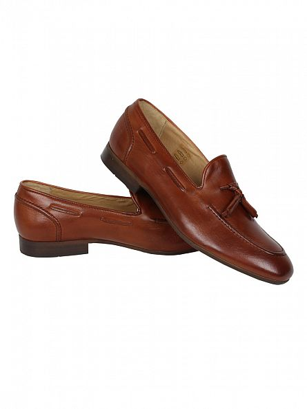 H by Hudson Calf Tan Pierre Loafer Shoes