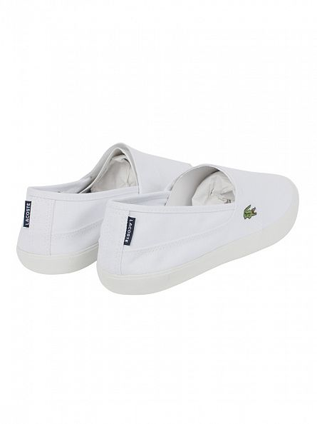 Lacoste White/White Marice Slip On Trainers