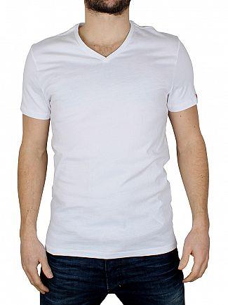 Levi's White 2 Pack V-Neck T-Shirts