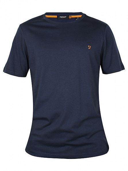 Farah Vintage Navy The Denny Crew Neck T-Shirt