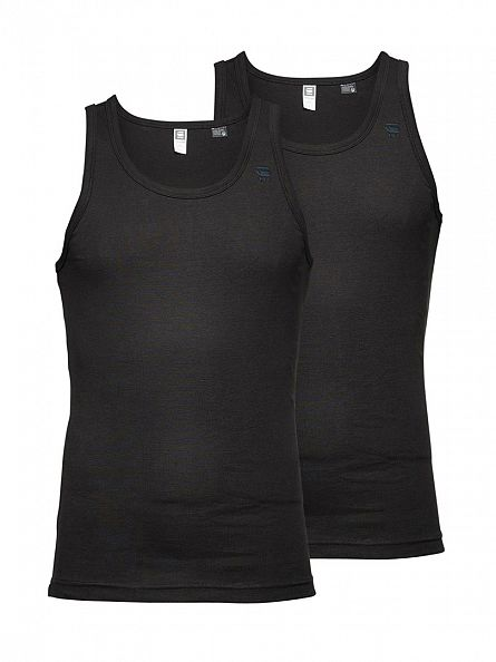 G-Star Black 2 Pack Vest