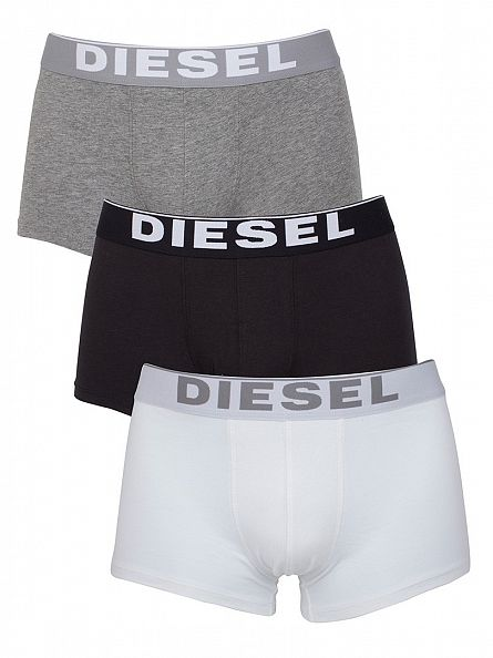 Diesel White/Black/Grey Kory 3 Pack Trunks