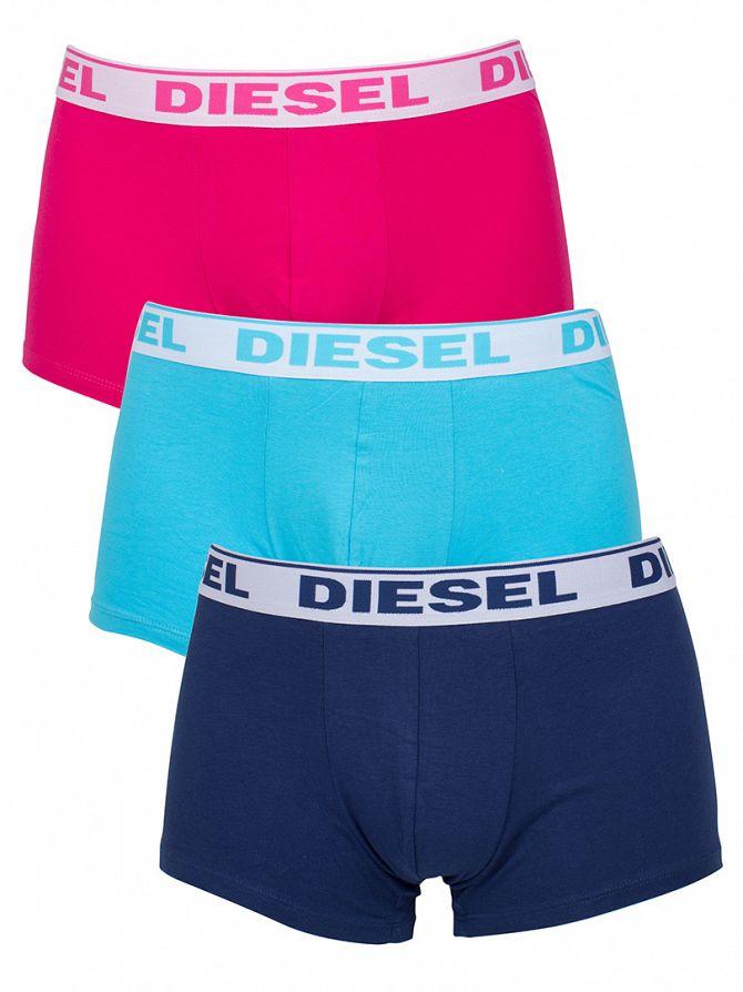 Diesel Navy/Sky/Fuschia Shawn 3 Pack Trunks