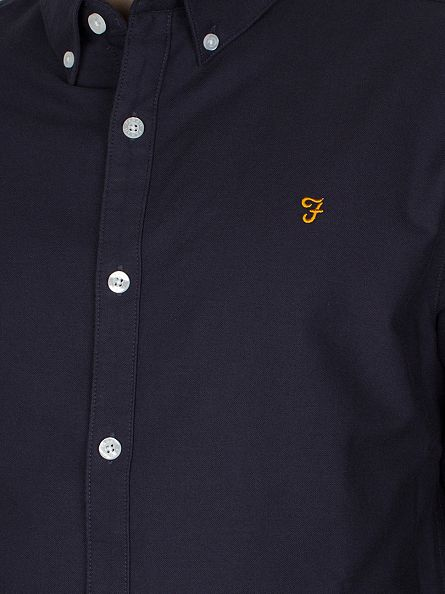 Farah Vintage Navy The Brewer Shirt