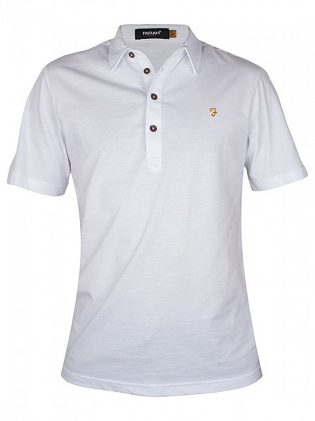 Farah Vintage White The Samuel Polo Shirt