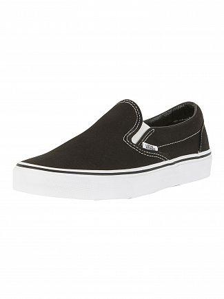 Vans Black White Classic Slip On Trainers