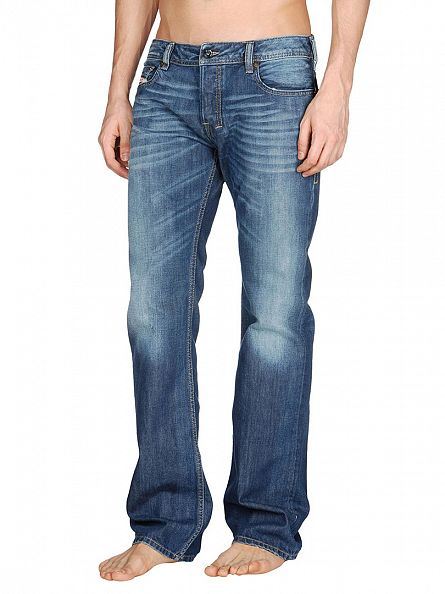 Diesel Medium Wash Zatiny 8XR Bootcut Jeans