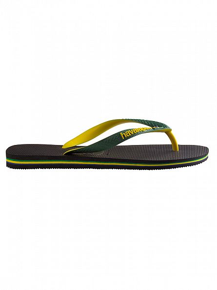 Havaianas Black Brasil Mix Flip Flops