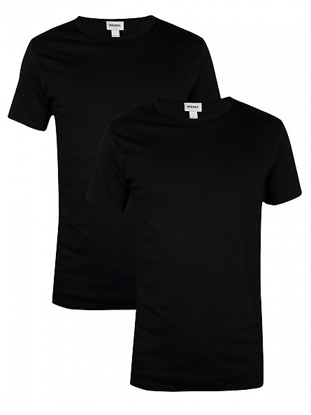 Diesel Black Dave Crew Neck 2 Pack T-Shirts