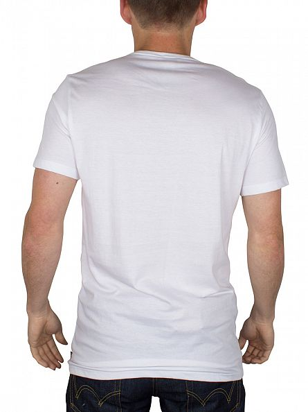 Diesel White Dave Crew Neck 2 Pack T-Shirts