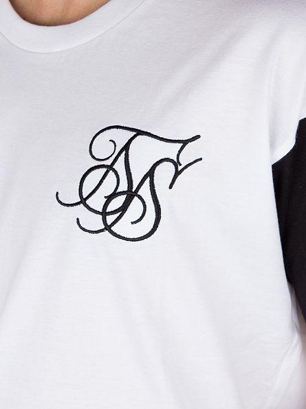 Sik Silk White Curved Hem T-Shirt