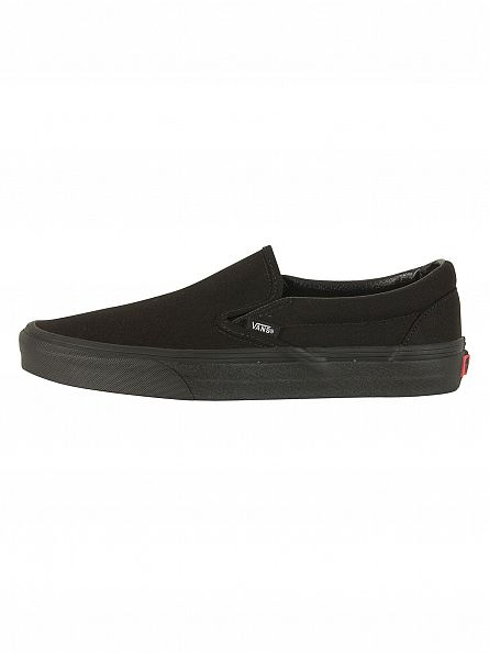 Vans Black/Black Classic Slip-On Trainers