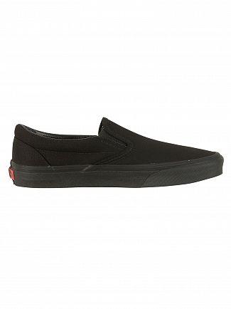 Vans Black/Black Classic Slip-On Trainers
