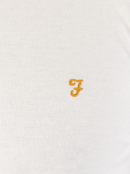 Farah Vintage White The Merriweather Longsleeved Polo Shirt