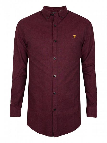 Farah Vintage Bordeaux Steen Shirt