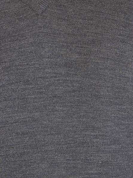 John Smedley Charcoal V-Neck Knit