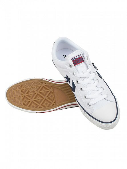 Converse White/White Star Player OX Trainers