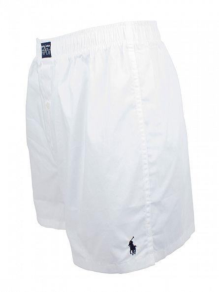 Polo Ralph Lauren White Woven Plain Trunks
