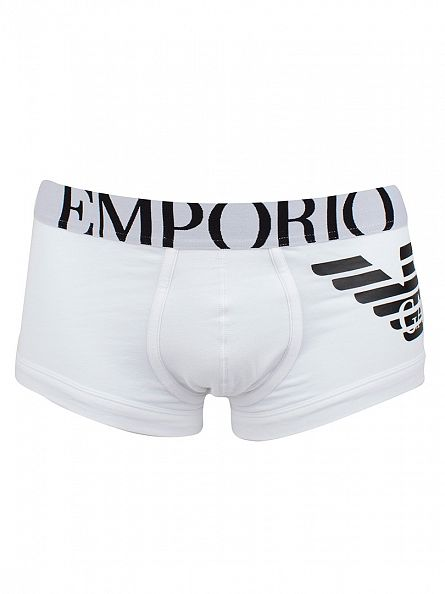 Emporio Armani White Eagle Stretch Trunks