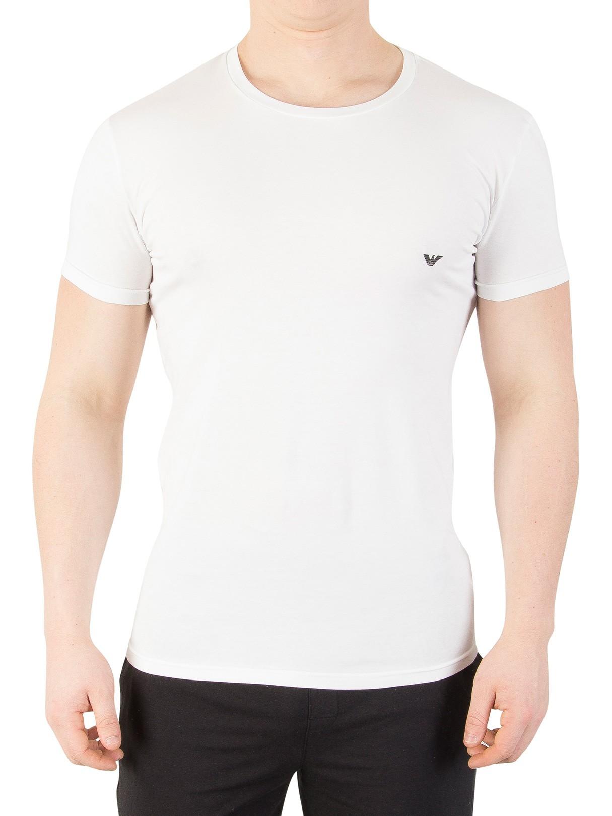 emporio armani white crew neck tshirt