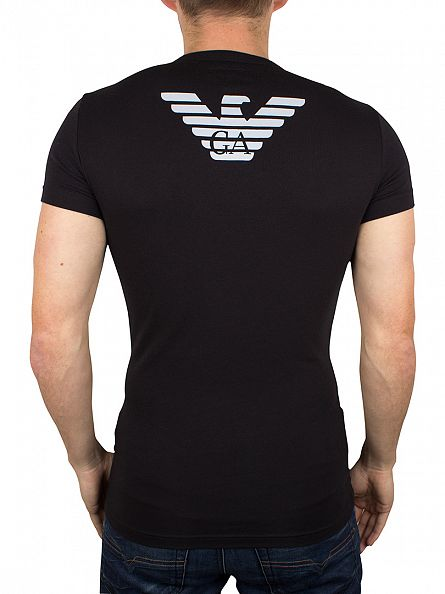 Emporio Armani Black Stretch Crew Neck T-Shirt