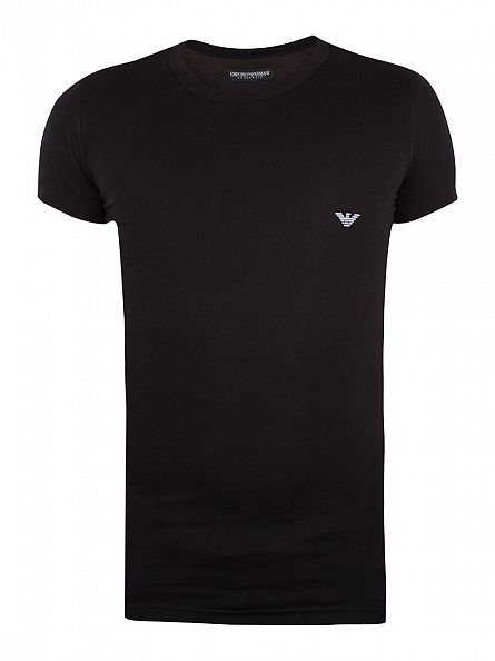 Emporio Armani Black Stretch Crew Neck T-Shirt