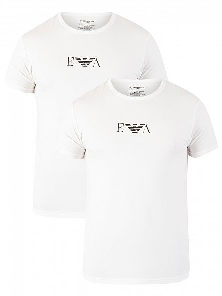 Emporio Armani White 2 Pack Stretch T-Shirt