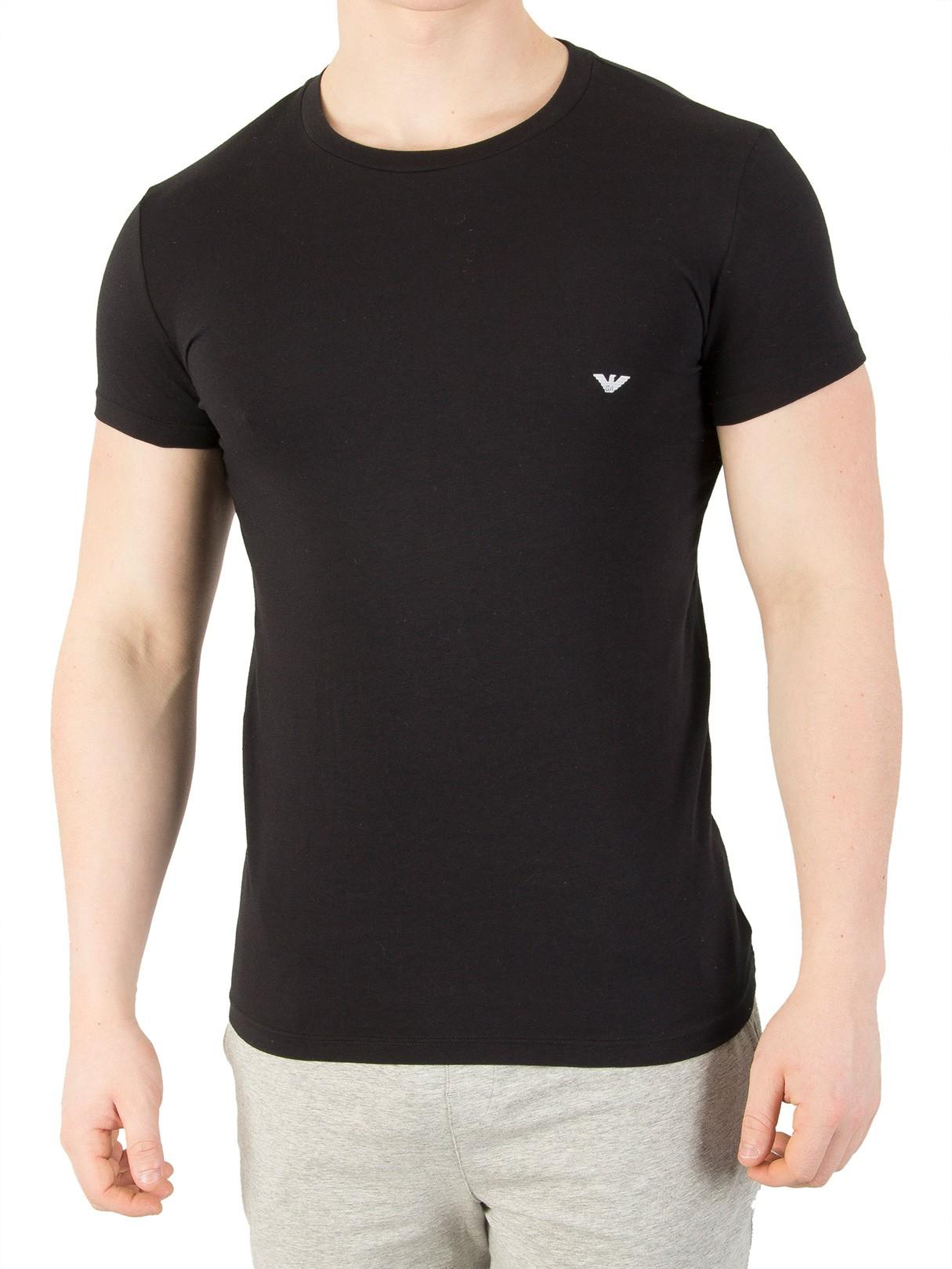 emporio armani black crew neck tshirt