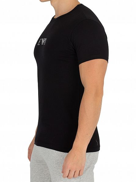 Emporio Armani Black 2 Pack Stretch T-Shirt