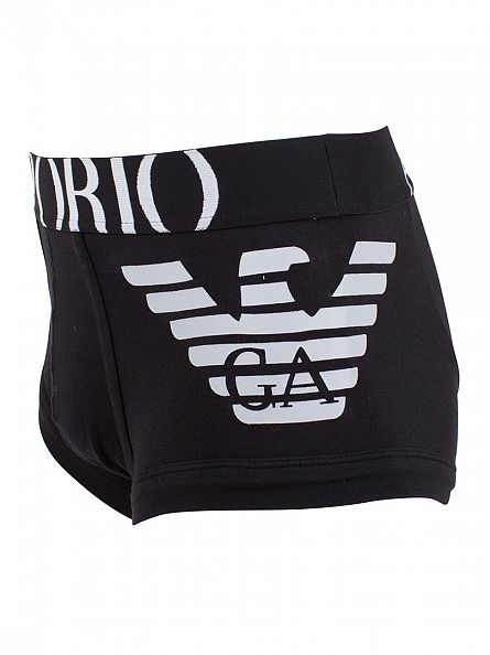 Emporio Armani Black Eagle Stretch Trunks