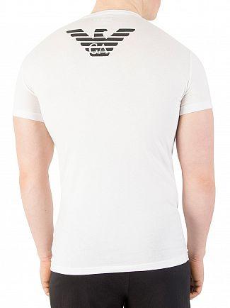 Emporio Armani White Eagle Stretch Crew Neck T-Shirt
