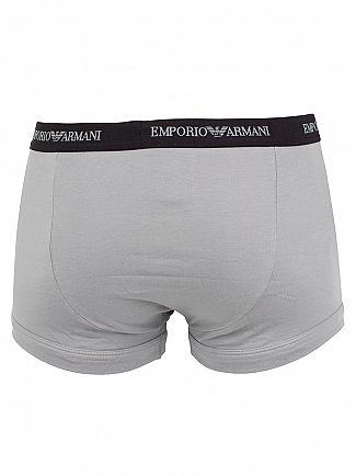 Emporio Armani White/Black/Grey 3 Pack Stretch Cotton Trunks