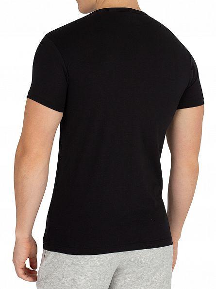 Emporio Armani Black 2 Pack Stretch T-Shirt