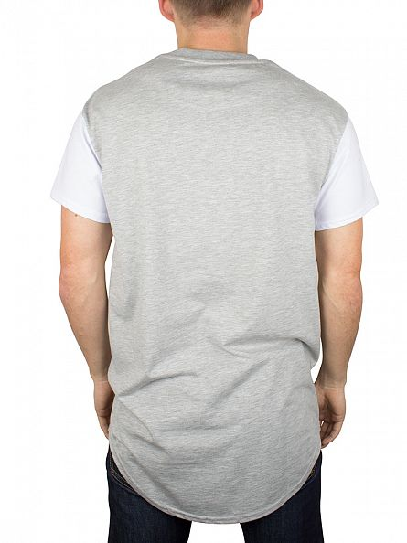 Sik Silk Grey Curved Hem T-Shirt
