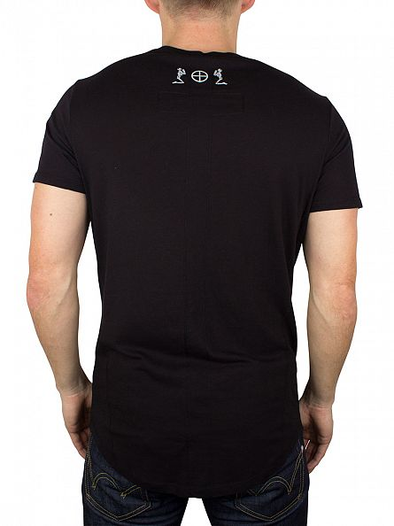 Religion Black Plain Crew Neck T-Shirt