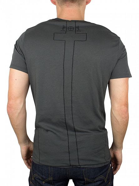 Religion Dark Metal Plain Crew Neck T-Shirt