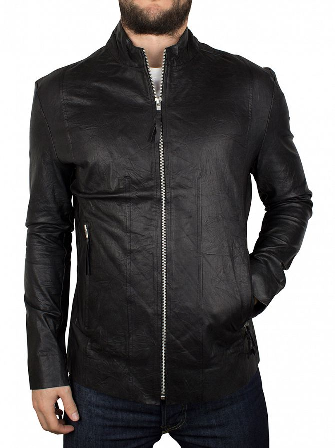 Religion Black Kea Leather Biker Jacket