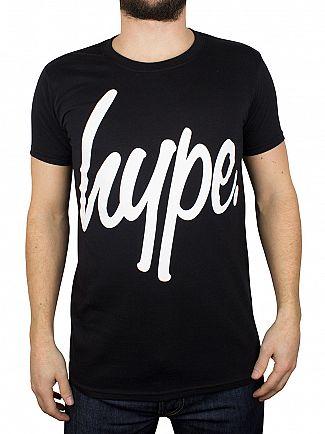 Hype Black/White Script T-Shirt