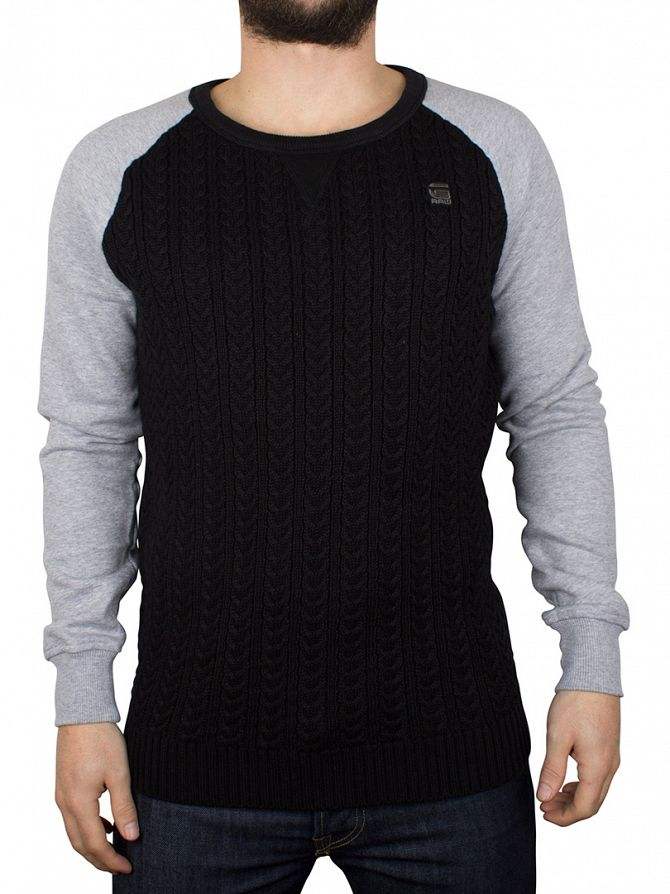 G-Star Grey Heather Kryv R Knit Sweatshirt