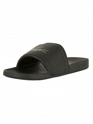 Lacoste Black/Black Fraisier BRD1 US SPM Flip Flops