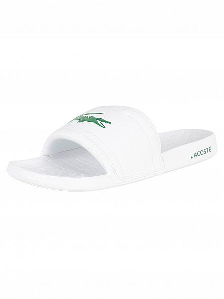 Lacoste White/Green Fraisier BRD1 US SPM Flip Flops