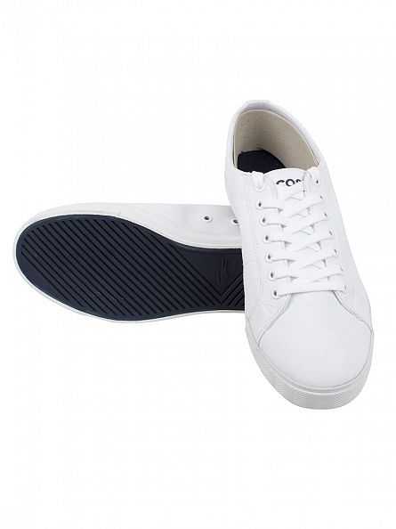 Lacoste White/White Marcel LCR2 SPM Trainers