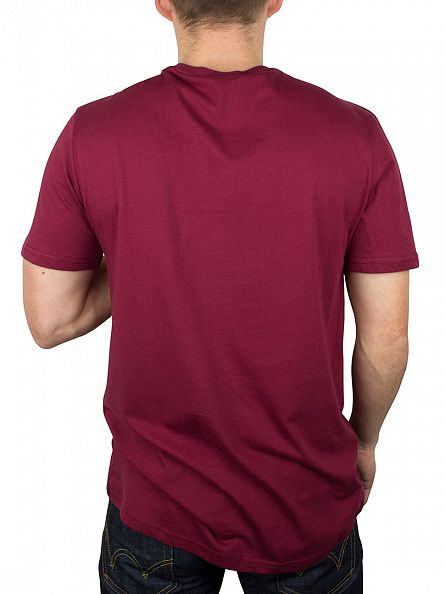 Hype Burgundy/White Script T-Shirt