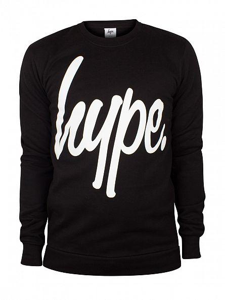 Hype Black/White Script Sweatshirt